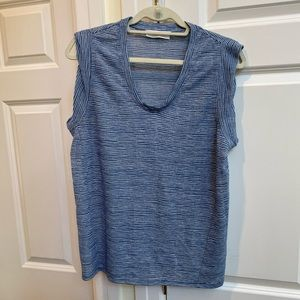 Two by Vince Camuto Blue Striped Tank Top